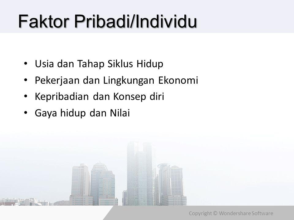 Faktor Pribadi/Individu
