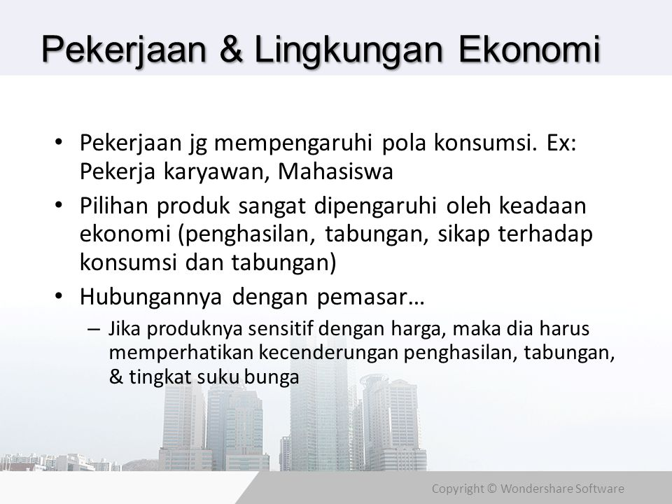 Pekerjaan & Lingkungan Ekonomi