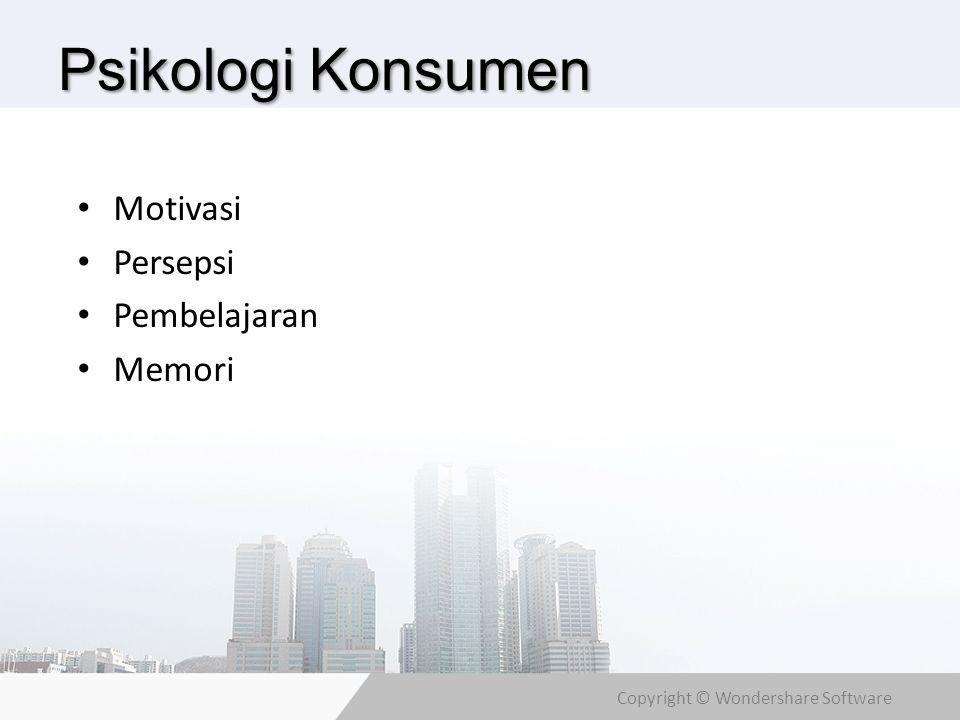 Psikologi Konsumen Motivasi Persepsi Pembelajaran Memori