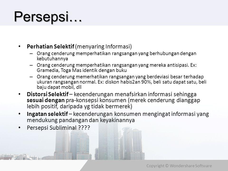 Persepsi… Perhatian Selektif (menyaring Informasi)