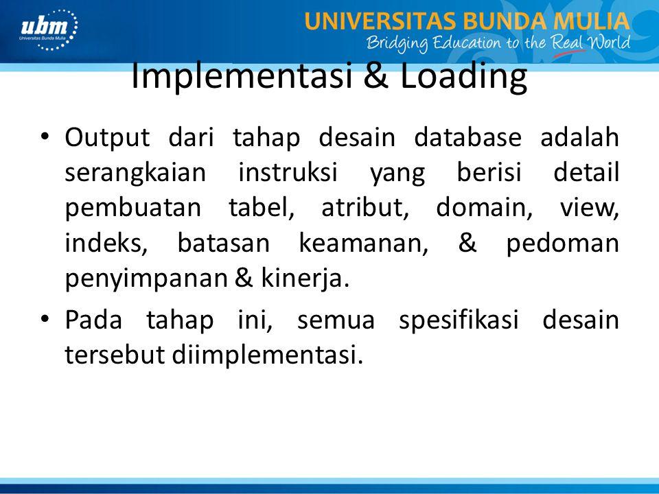 Implementasi & Loading
