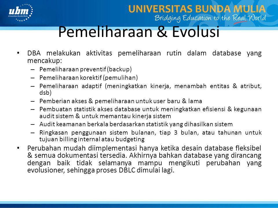 Pemeliharaan & Evolusi