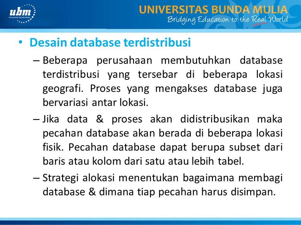 Desain database terdistribusi