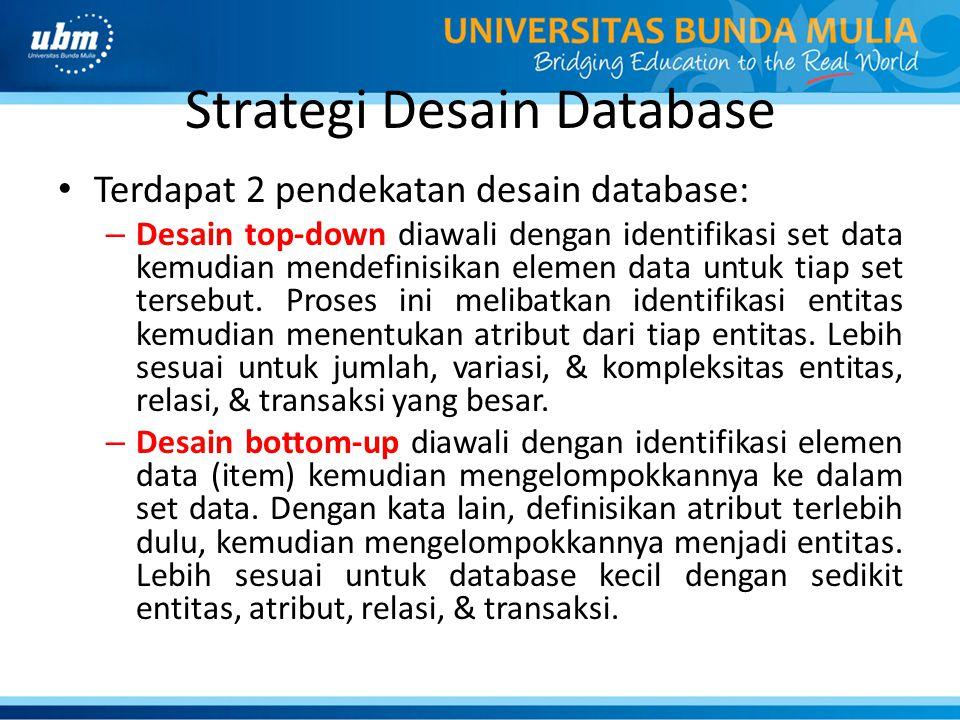 Strategi Desain Database