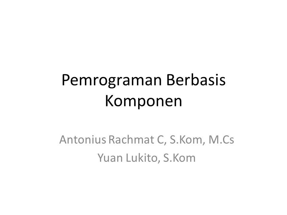 Pemrograman Berbasis Komponen