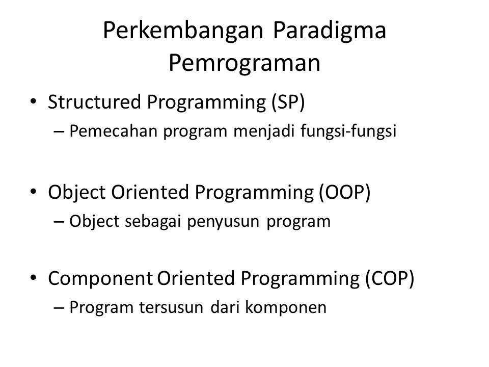 Perkembangan Paradigma Pemrograman
