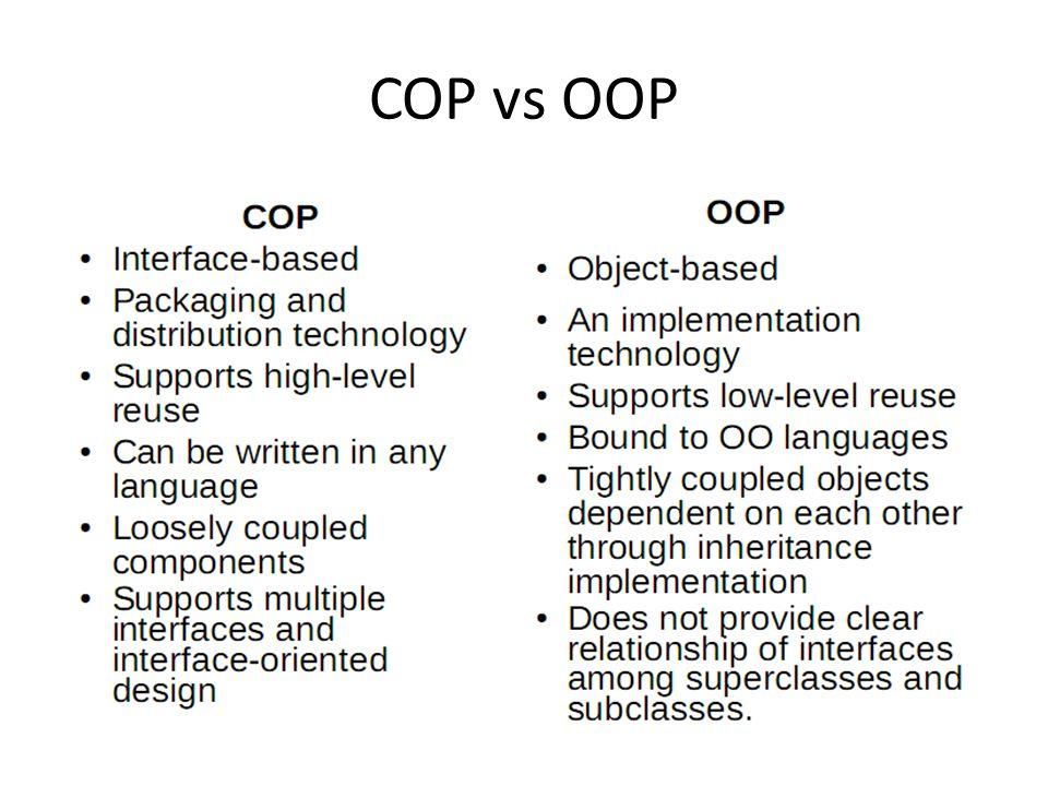 COP vs OOP