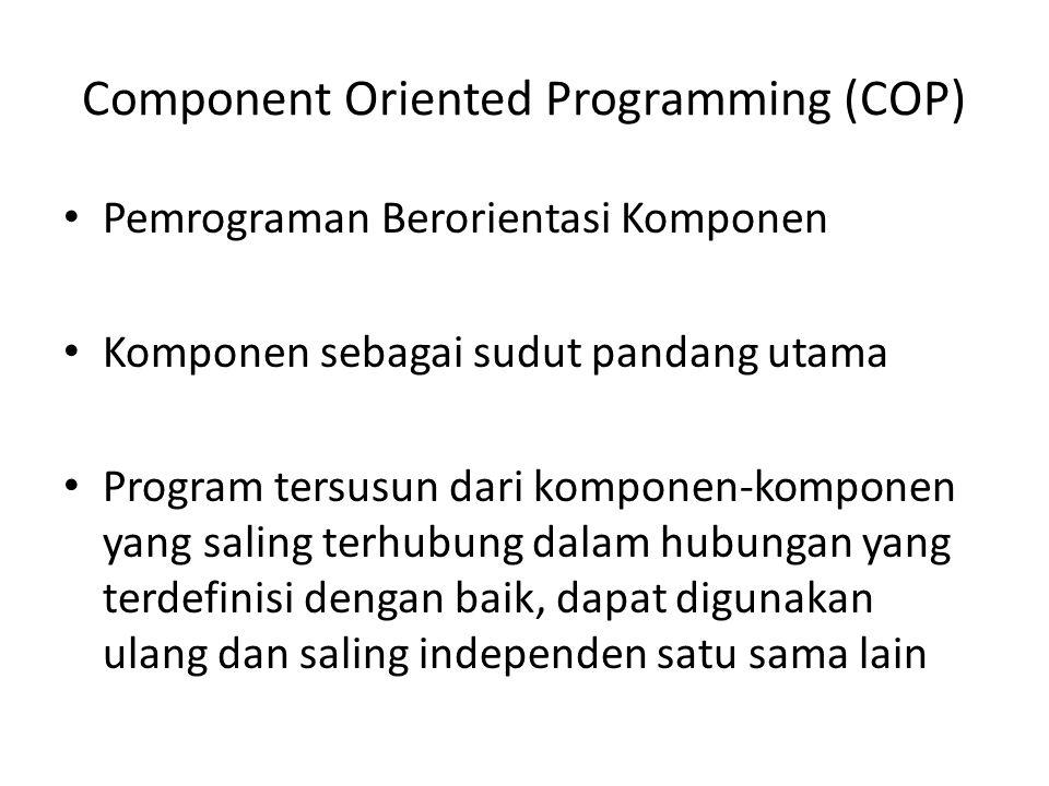 Component Oriented Programming (COP)