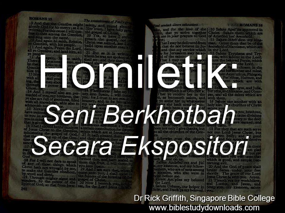 Homiletik: Seni Berkhotbah Secara Ekspositori