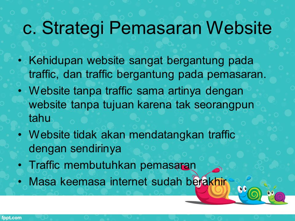 c. Strategi Pemasaran Website