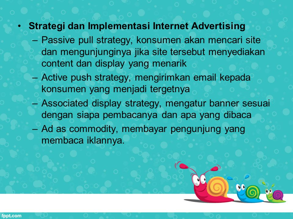 Strategi dan Implementasi Internet Advertising