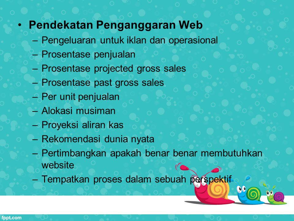 Pendekatan Penganggaran Web