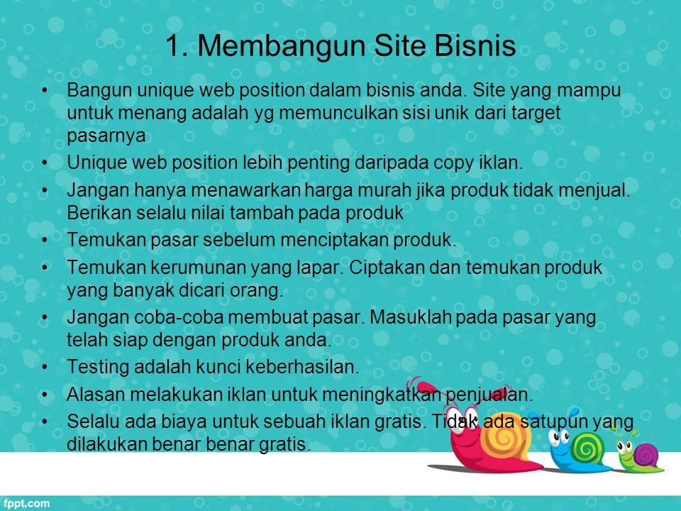 1. Membangun Site Bisnis