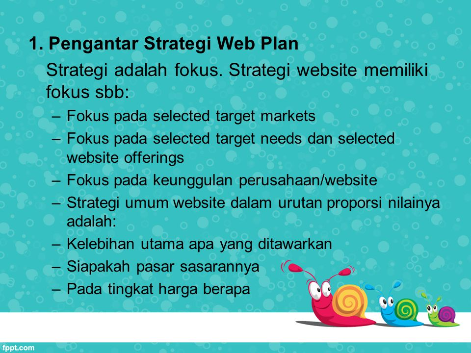 1. Pengantar Strategi Web Plan