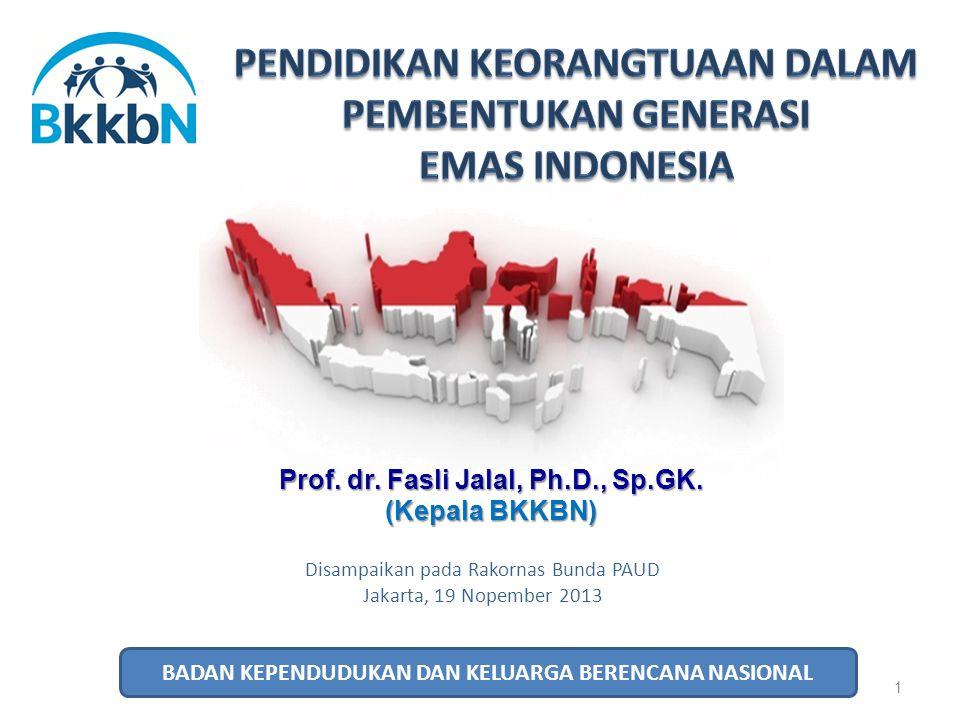 PENDIDIKAN KEORANGTUAAN DALAM PEMBENTUKAN GENERASI EMAS INDONESIA