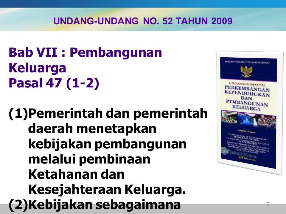 UNDANG-UNDANG NO. 52 TAHUN 2009
