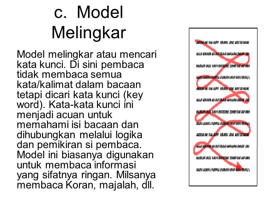 c. Model Melingkar