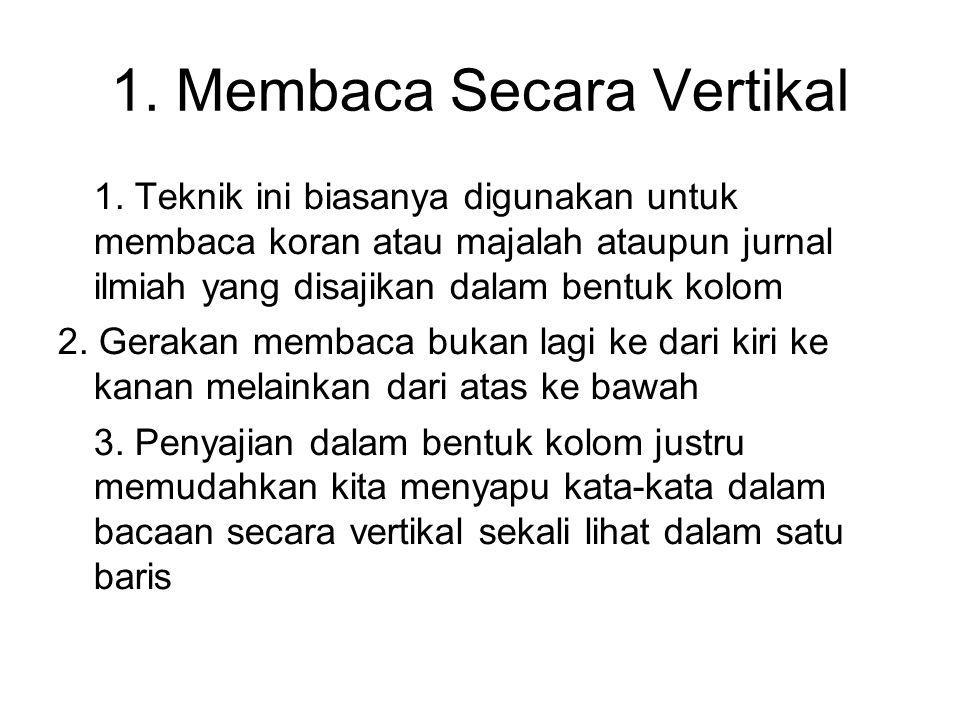 1. Membaca Secara Vertikal