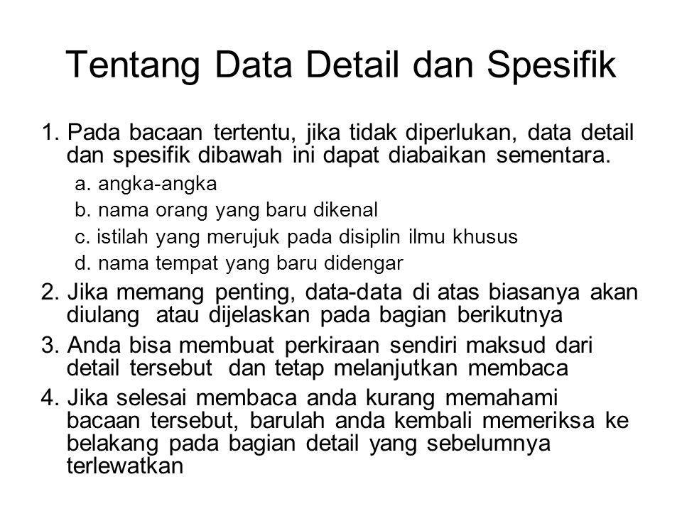 Tentang Data Detail dan Spesifik