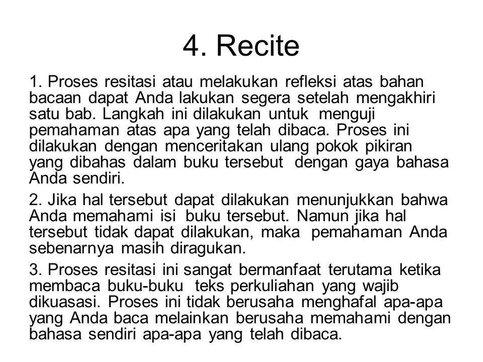 4. Recite