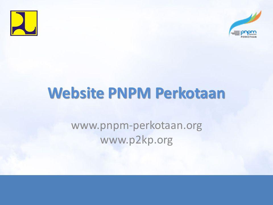Website PNPM Perkotaan