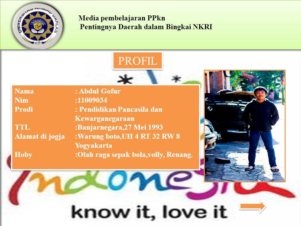 PROFIL Nama : Abdul Gofur Nim :11009034