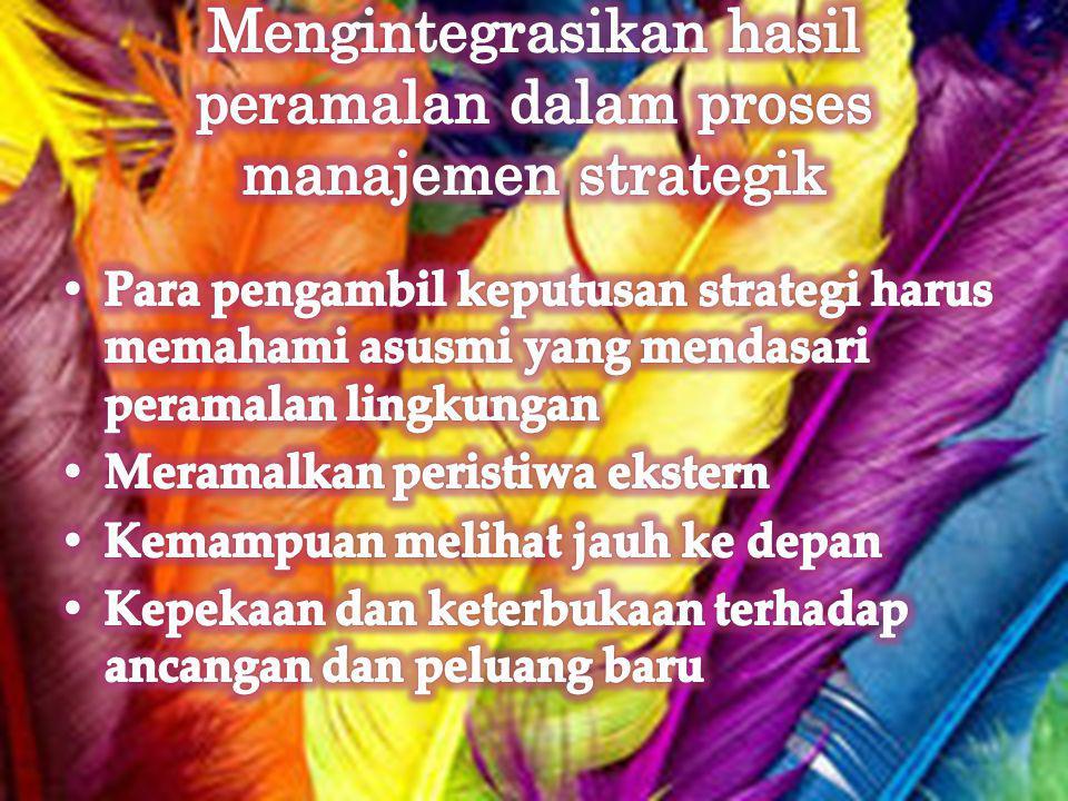 Mengintegrasikan hasil peramalan dalam proses manajemen strategik