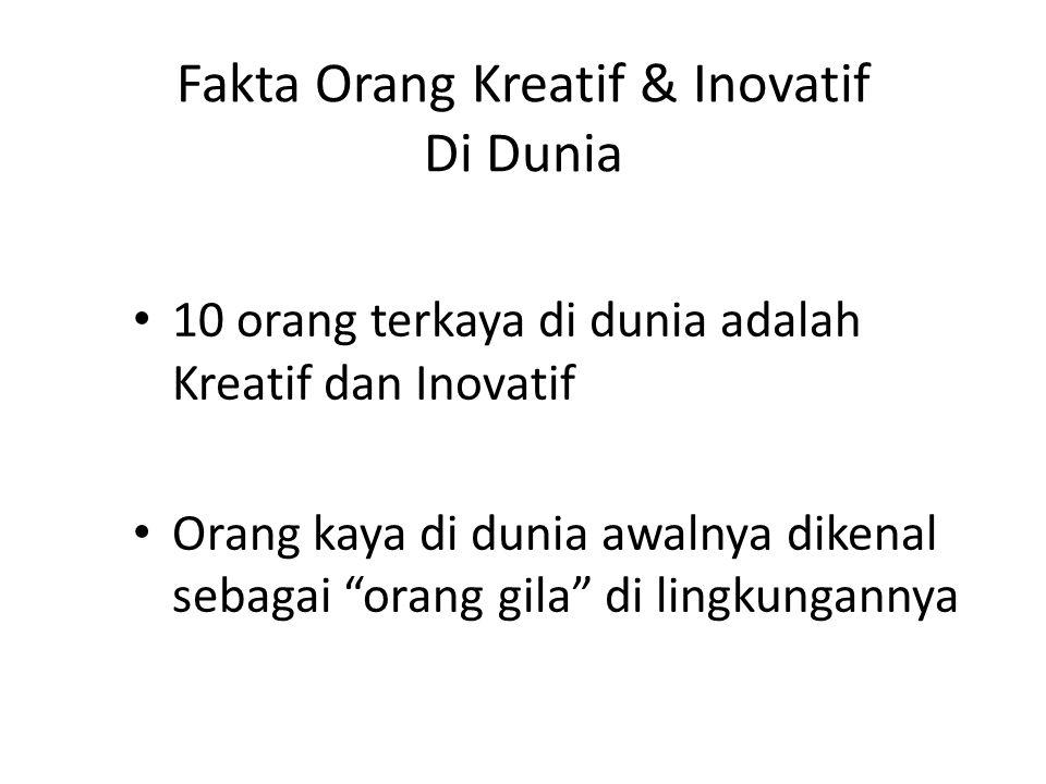 Fakta Orang Kreatif & Inovatif Di Dunia