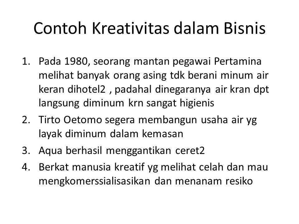 Contoh Kreativitas dalam Bisnis