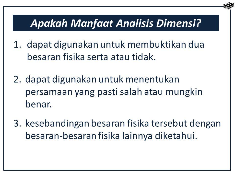 Apakah Manfaat Analisis Dimensi