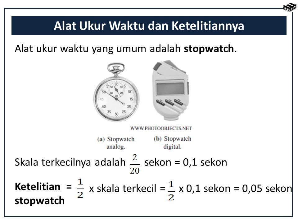 Alat Ukur Waktu dan Ketelitiannya