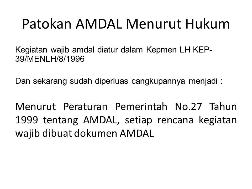 Patokan AMDAL Menurut Hukum