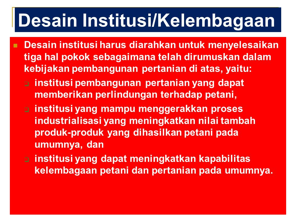 Desain Institusi/Kelembagaan