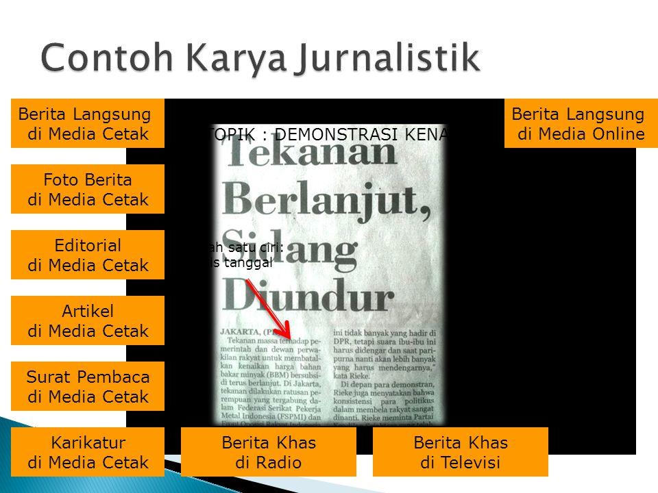Contoh Karya Jurnalistik