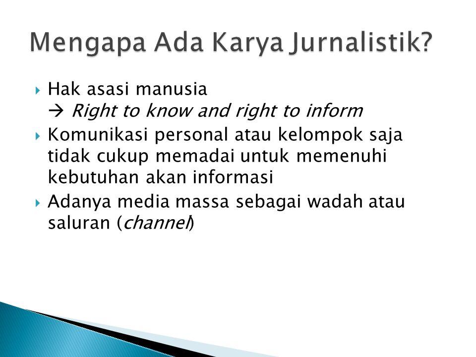 Mengapa Ada Karya Jurnalistik