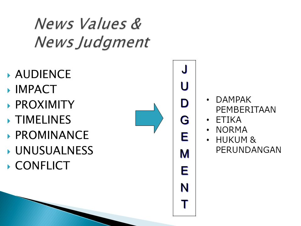 News Values & News Judgment
