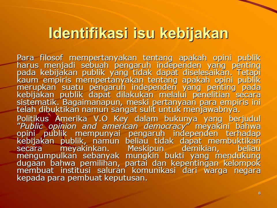 Identifikasi isu kebijakan