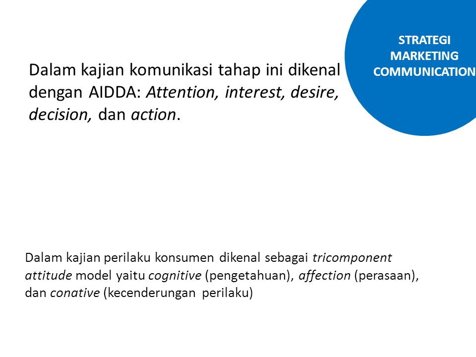 STRATEGI MARKETING COMMUNICATION