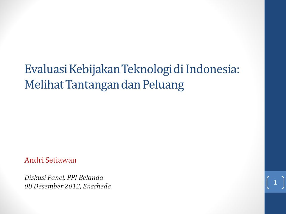 Andri Setiawan Diskusi Panel, PPI Belanda 08 Desember 2012, Enschede