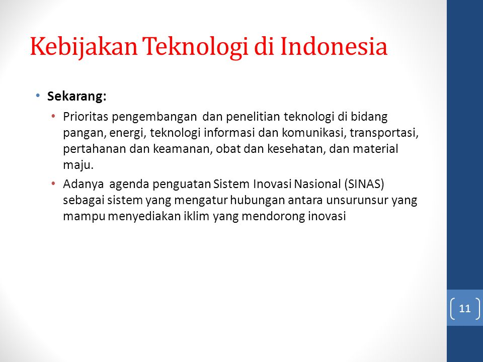 Kebijakan Teknologi di Indonesia