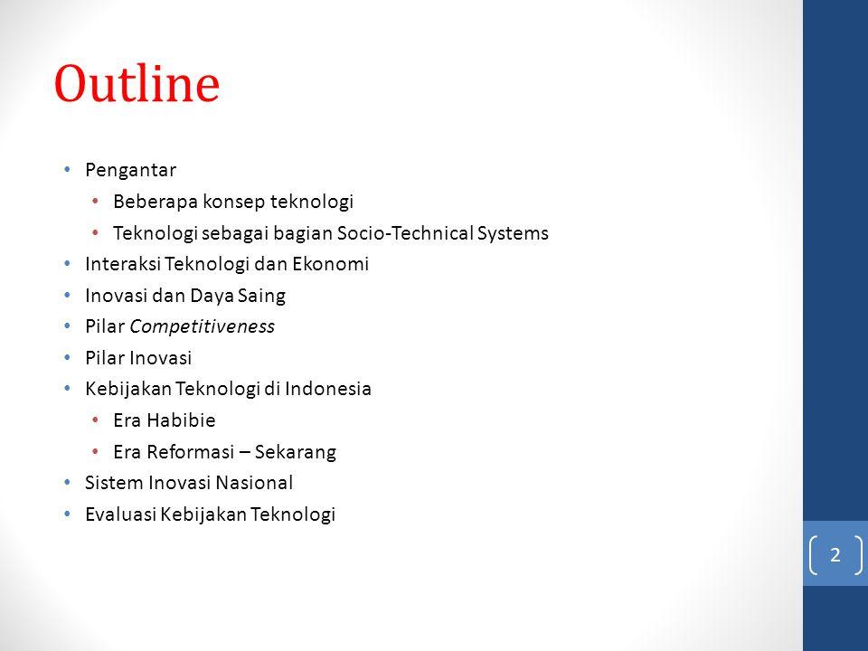 Outline Pengantar Beberapa konsep teknologi