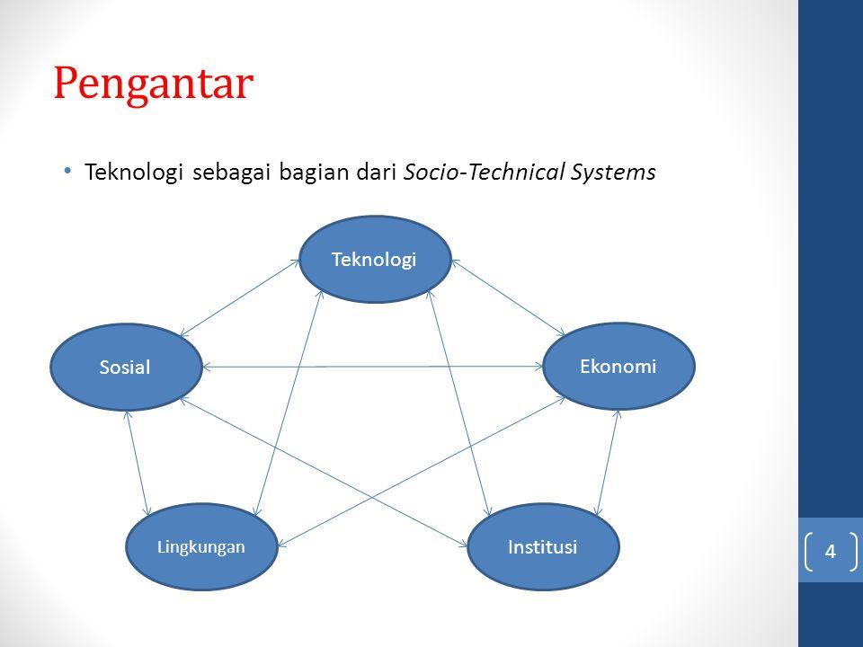 Pengantar Teknologi sebagai bagian dari Socio-Technical Systems