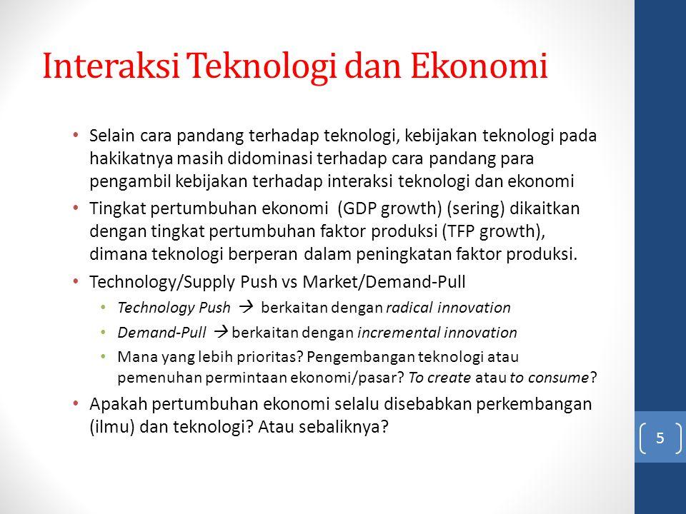 Interaksi Teknologi dan Ekonomi