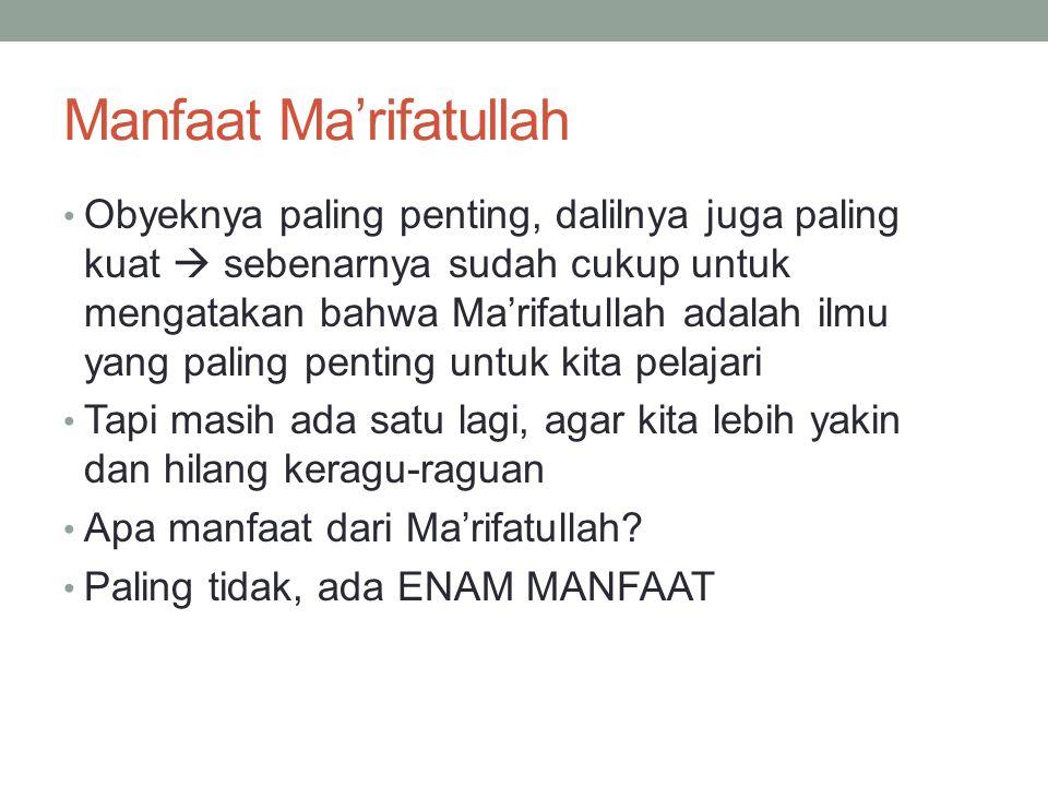Manfaat Ma'rifatullah