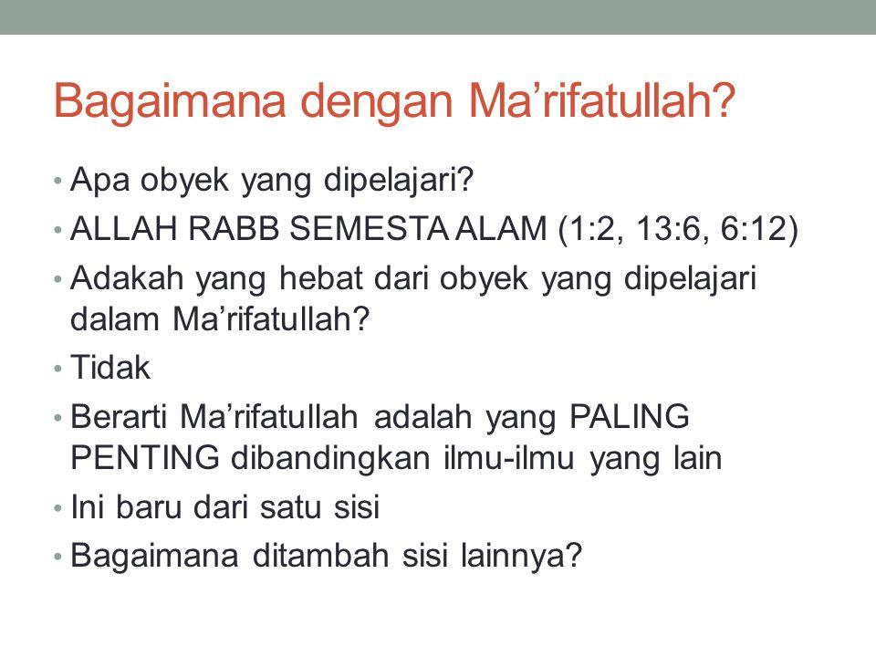 Bagaimana dengan Ma'rifatullah