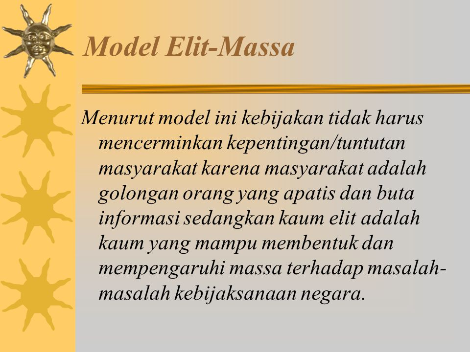 Model Elit-Massa