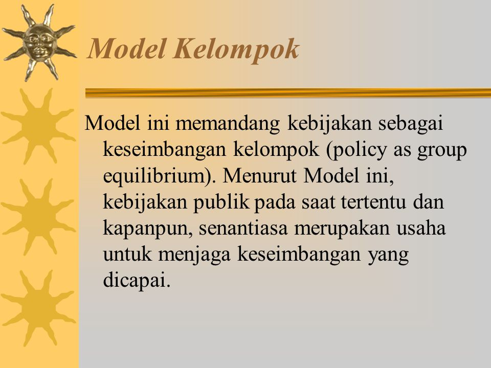 Model Kelompok