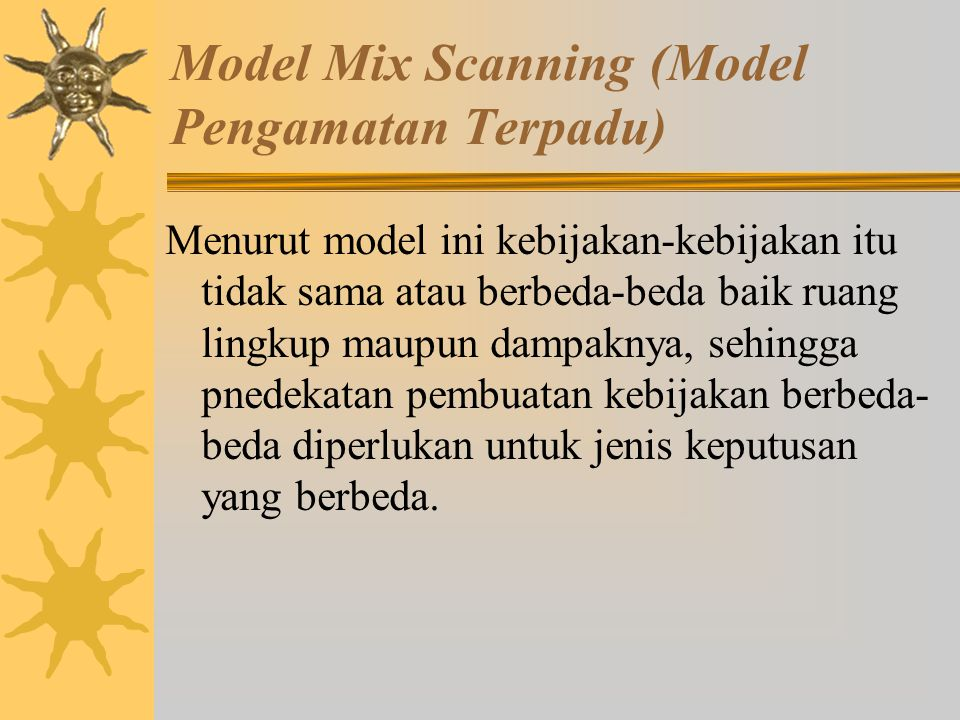Model Mix Scanning (Model Pengamatan Terpadu)