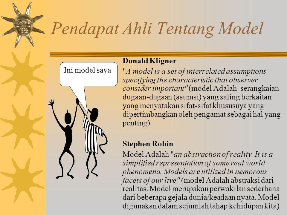 Pendapat Ahli Tentang Model