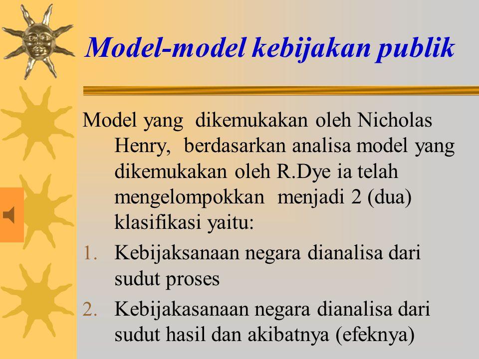 Model-model kebijakan publik
